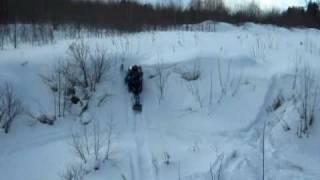 Снежики, Снегоходы, Пермь, Ski-doo (Видео 2)(Прогулка на снегоходах ski-doo в Перми., 2010-04-12T22:00:17.000Z)