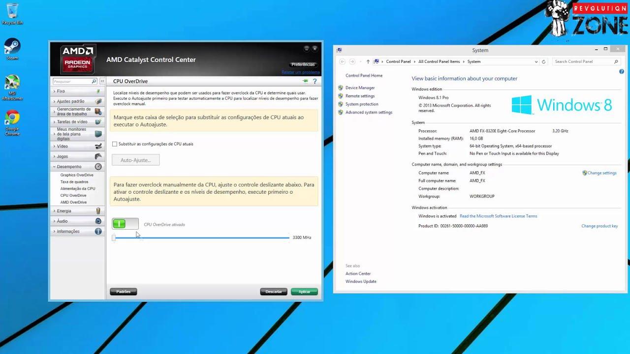 AMD Revolution Zone - Tutorial Overclock com AMD Overdrive