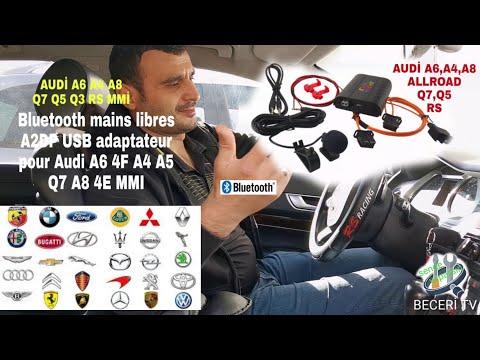 boitier Bluetooth USB,SD mains libres adaptateur pour Audi A6 allroad A4 A5 Q7 A8 4E MMI BECERI TV