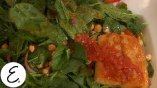 Warm Chickpea And Spinach Salad With Grilled Mackerel - Emeril Lagasse