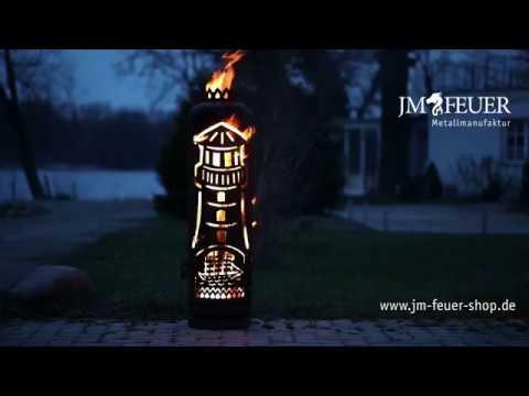 Jm Feuer feuerstelle leuchtturm aus metall