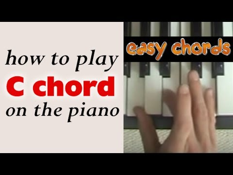 C Chord Piano How To Play C Major Chord On The Piano Or Keyboard