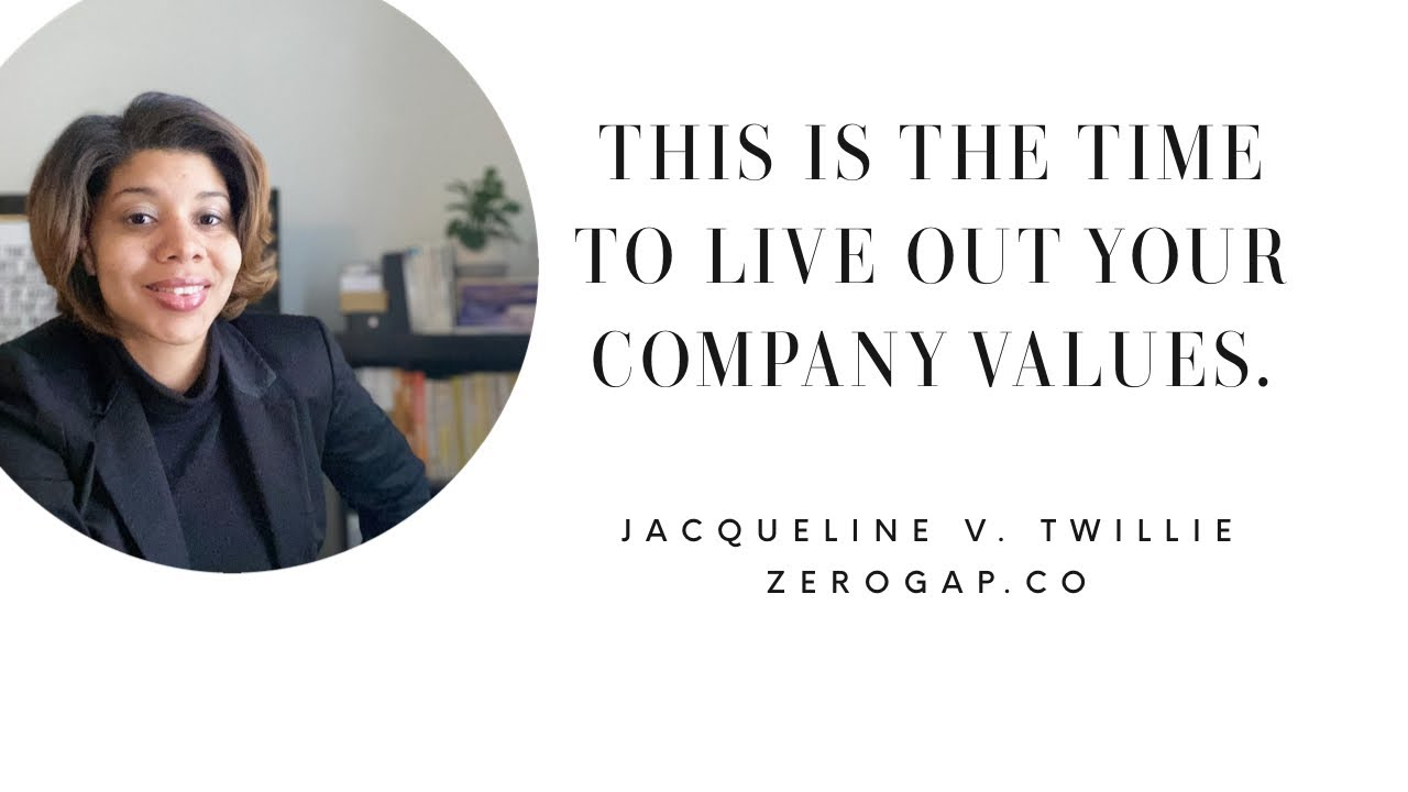 HOW TO LIVE OUT YOUR COMPANY'S VALUES