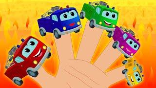 Fire Truck Finger Family | Fire Truck Video For Kids | Preschooler Car Rhymes