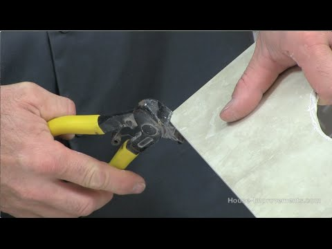 how to use tile nippers