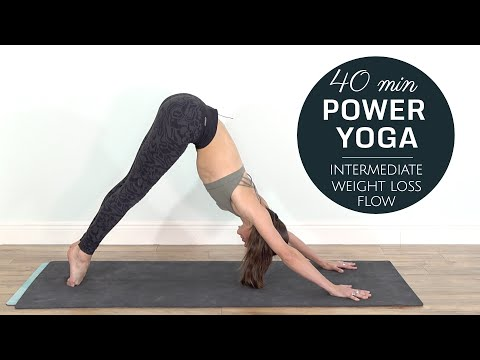 Power Yoga Workout - Weight Loss Flow [ Intermediate / 40 Min ] - 30 Days of Yoga