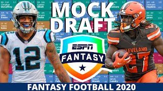 2020 Fantasy Football Mock Draft (PPR) - 12 Team- Pick 6