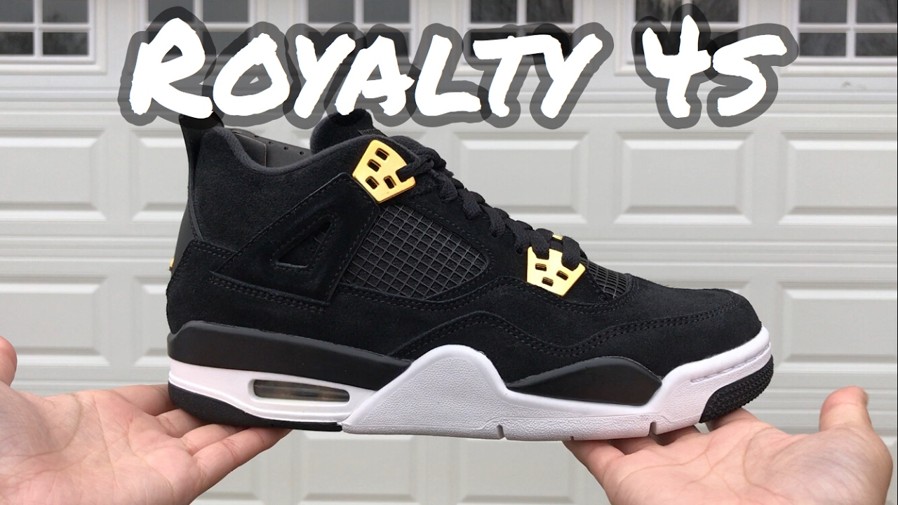 Air Jordan 4s Royalty { Sneaker Unboxing & Review & On Feet Try-on }