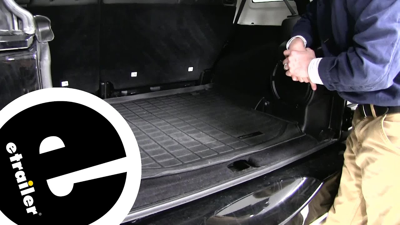 Etrailer Weathertech Cargo Liner Review 2014 Jeep Wrangler Unlimited Youtube
