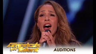 Glennis Grace: STUNNING 39-Year-Old Singer Tribute To Whitney Houston! | America's Got Talent 2018