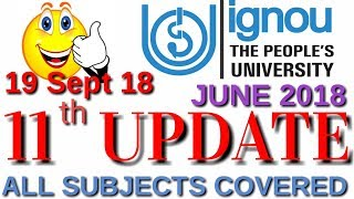 [11th UPDATE] IGNOU RESULT 2018 JUNE TEE EXAM LATEST UPDATE By TIPS GURU