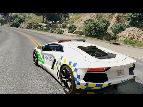 Malaysia Police PDRM Lamborghini Aventador 0.1 - GTA V
