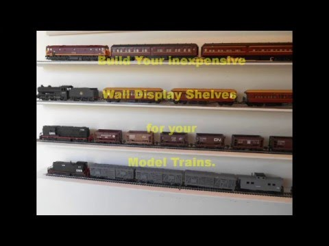 Build inexpensive Wall Display shelves for Model Trains