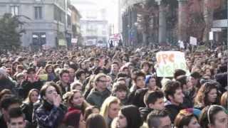 La protesta degli studenti invade Busto Arsizio