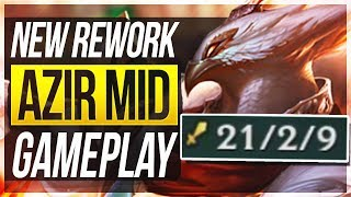 AZIR REWORK FULL GAMEPLAY! He Feels OP!! - League of Legends thumbnail