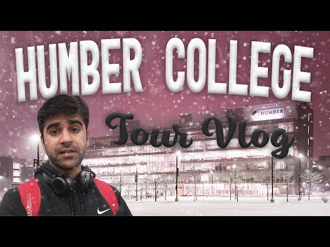 Humber College North Campus Tour - VLOG - TOTALLY COVERED WITH SNOW