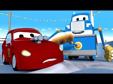 Заливочная машина - Трансформер Карл в Автомобильный Город ? ⍟ детский мультфильм - Видео онлайн