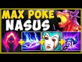 THE NEW 0 SKILL NASUS BUILD! MAX POKE NASUS NEEDS TO NERFED! NASUS TOP GAMEPLAY! - League of Legends