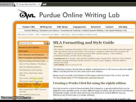 purdue owl mla