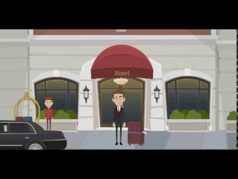 à la réception de l'hotel en francais avec tiic studios
