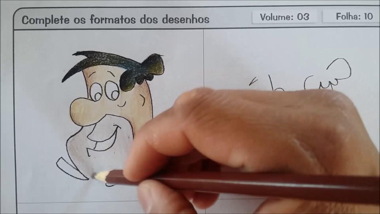 Volume 7 Folha 12 Como Colorir Fred Flintstone Youtube