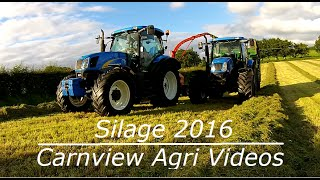 Silage 2016 - Ballynamaddy Dairy Farm - Trailed Harvester