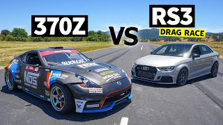 1,100hp Nissan 370z Pro Drift Car vs. 800+hp Audi RS3 // This vs That