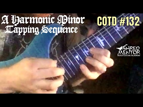 A Harmonic Minor Tapping Sequence | ShredMentor Challenge of the Day #132
