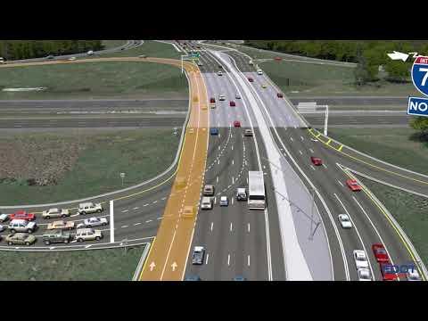 State Road 56 Diverging Diamond Interchange Animation