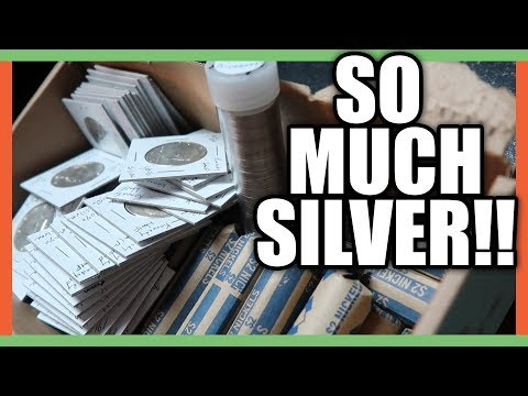 SEARCHING FOR SILVER COINS FROM THE BANK - COIN ROLL HUNTING LIVE STREAM!!