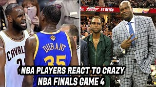 NBA Players REACT TO Cavs vs WARRIORS GAME 4 2017! Cavs NBA Finals Record 24 Threes in Game 4 Win!