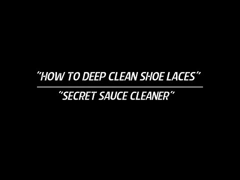 "How To Deep Clean & Whiten ""White Laces"" !!!"