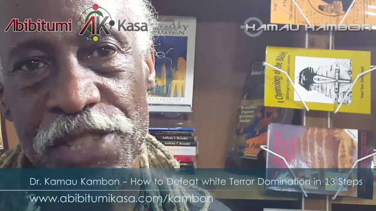 DR KAMAU KAMBON: How to defeat white terror domination in 13 Steps