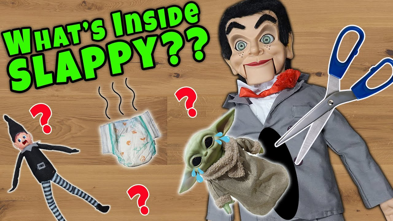 Download What's Inside Slappy? He Ate Baby Yoda! Cutting Open Slappy The Dummy