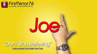 Download Don't Stop Believin' (Glee Version) - Instrumental and Male Part Only MP3 song and Music Video