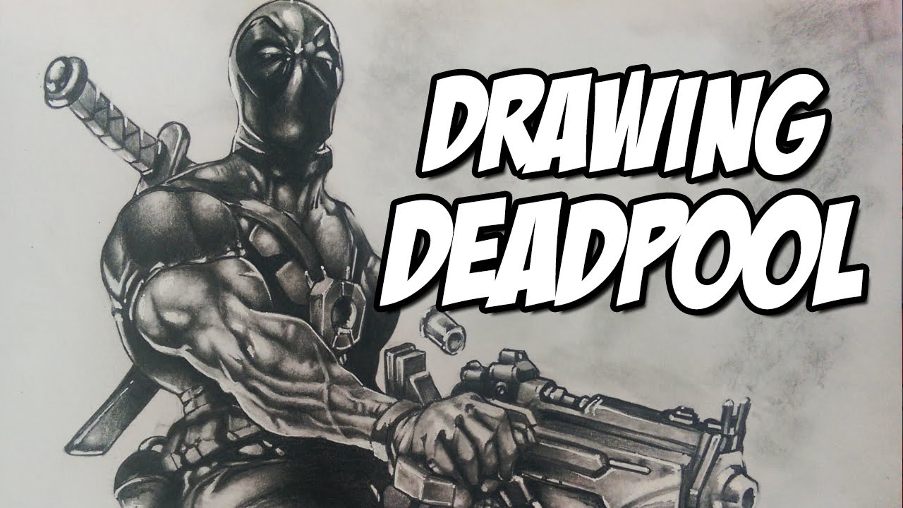 Drawing deadpool marvel comics pencil drawing youtube
