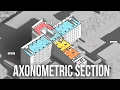 Axonometric Section in Photoshop