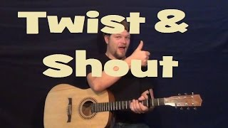 twist and shout the beatles easy strum guitar lesson chords d g a how to play