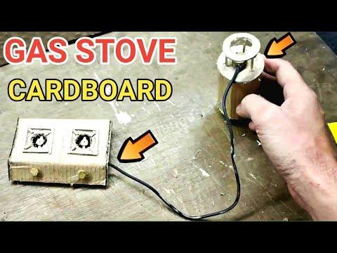 How To Make GAS Stove Using Cardboard - Crafts with Cardboard | DIY GAS Chulha