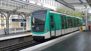【フランス】 パリメトロ2号線 ラ・シャペル駅 Paris Métro Line 2 La Chapelle Station (2014.4)