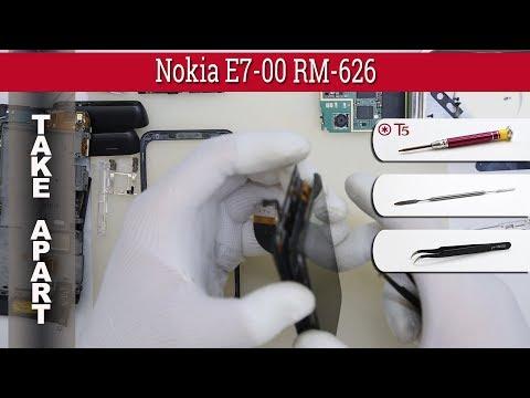 How to disassemble 📱 Nokia E7-00 RM-626 Take apart Tutorial