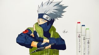 How To Draw Kakashi - Step By Step (Tutorial)