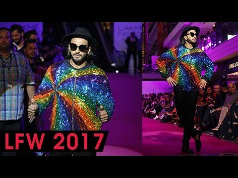 Thumbnail: Ranveer Singh Colorful and QUIRKIEST Look at Lakme Fashion Week 2017 Day 4