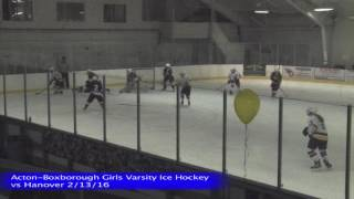 Acton Boxborough Girls Ice Hockey vs Hanover 2/13/16