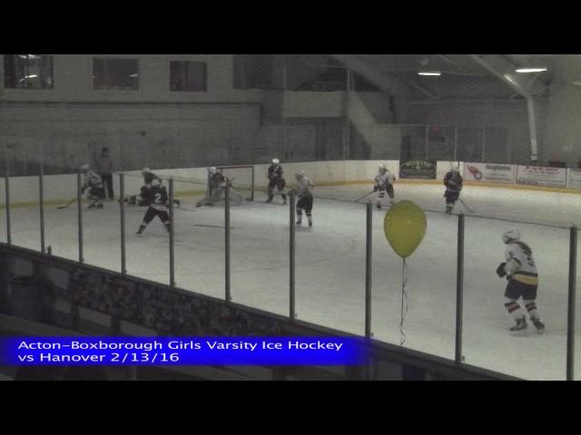 Acton Boxborough Girls Ice Hockey vs Hanover 2/13/16