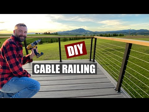 DIY Cable Railing with Metal Posts Built from Scratch!