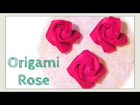 Origami Kawasaki Rose Tutorial - DIY - Paper Kawaii - YouTube | 360x480