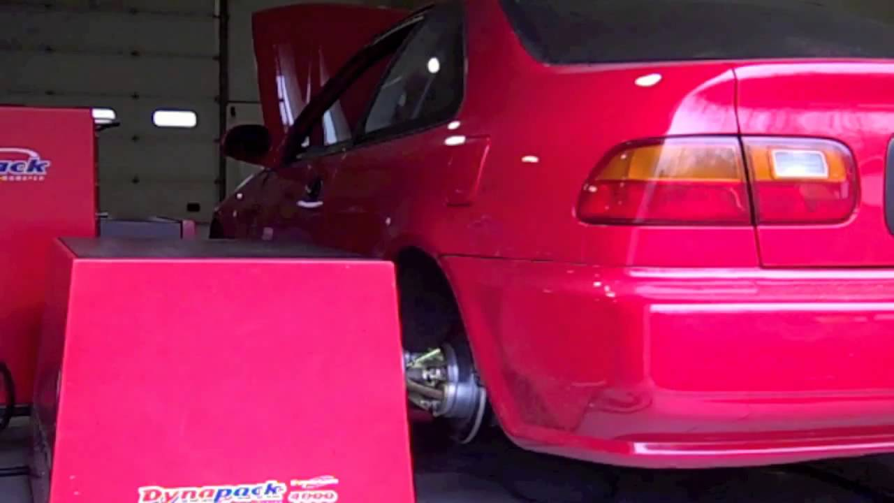 Epic Tuning 4WD Honda Civic - 648whp / 430tq - AEM EMS - Dyno Video - YouTube