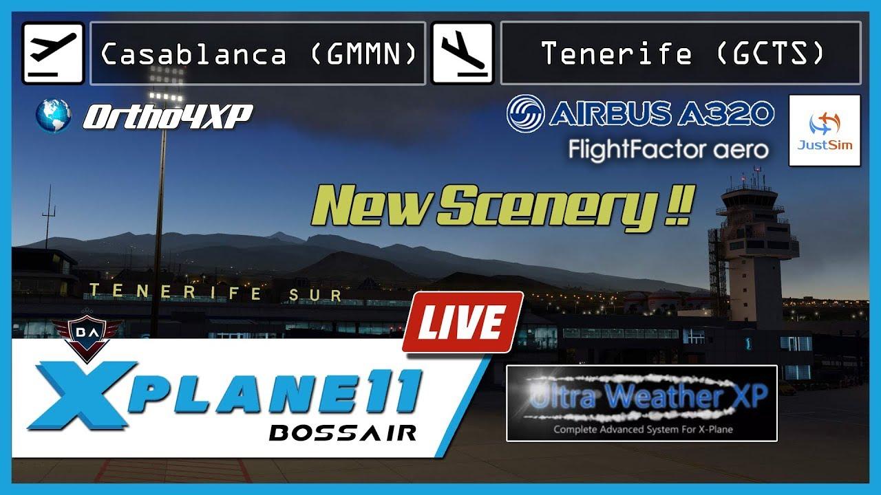X-Plane 11 | Casablanca (GMMN) - Tenerife (GCTS) | JustSim