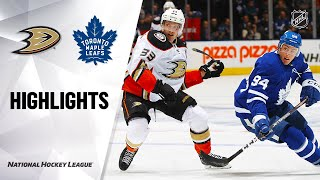 NHL Highlights | Ducks @ Maple Leafs 2/7/20